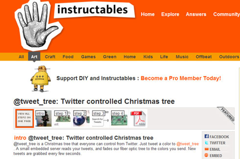 Twitter Controlled Tree Instructable Dangerous Prototypes