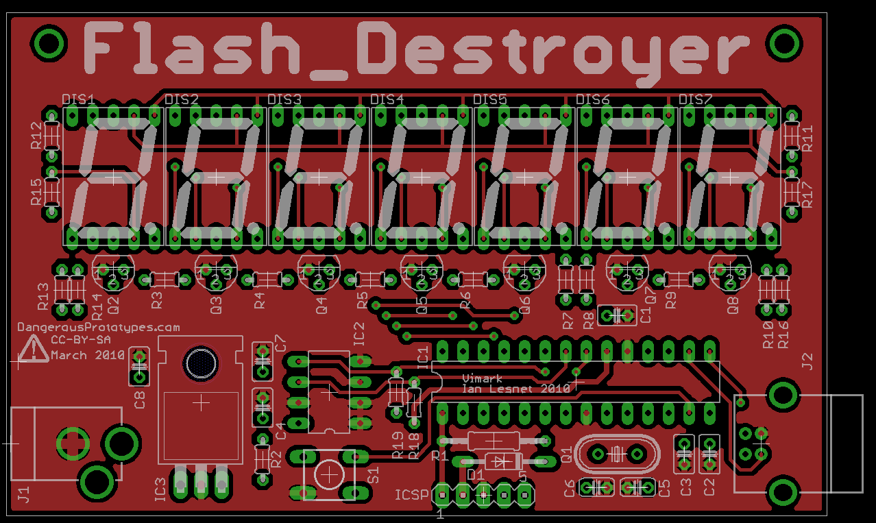 Prototype Flash Destroyer Dangerous Prototypes Fusion Pcb Service Upgraded With Even Lower Pricing Seeed Studio Note That The Resistors Are Small 1 8th Watt Variety Used To Save Board Space