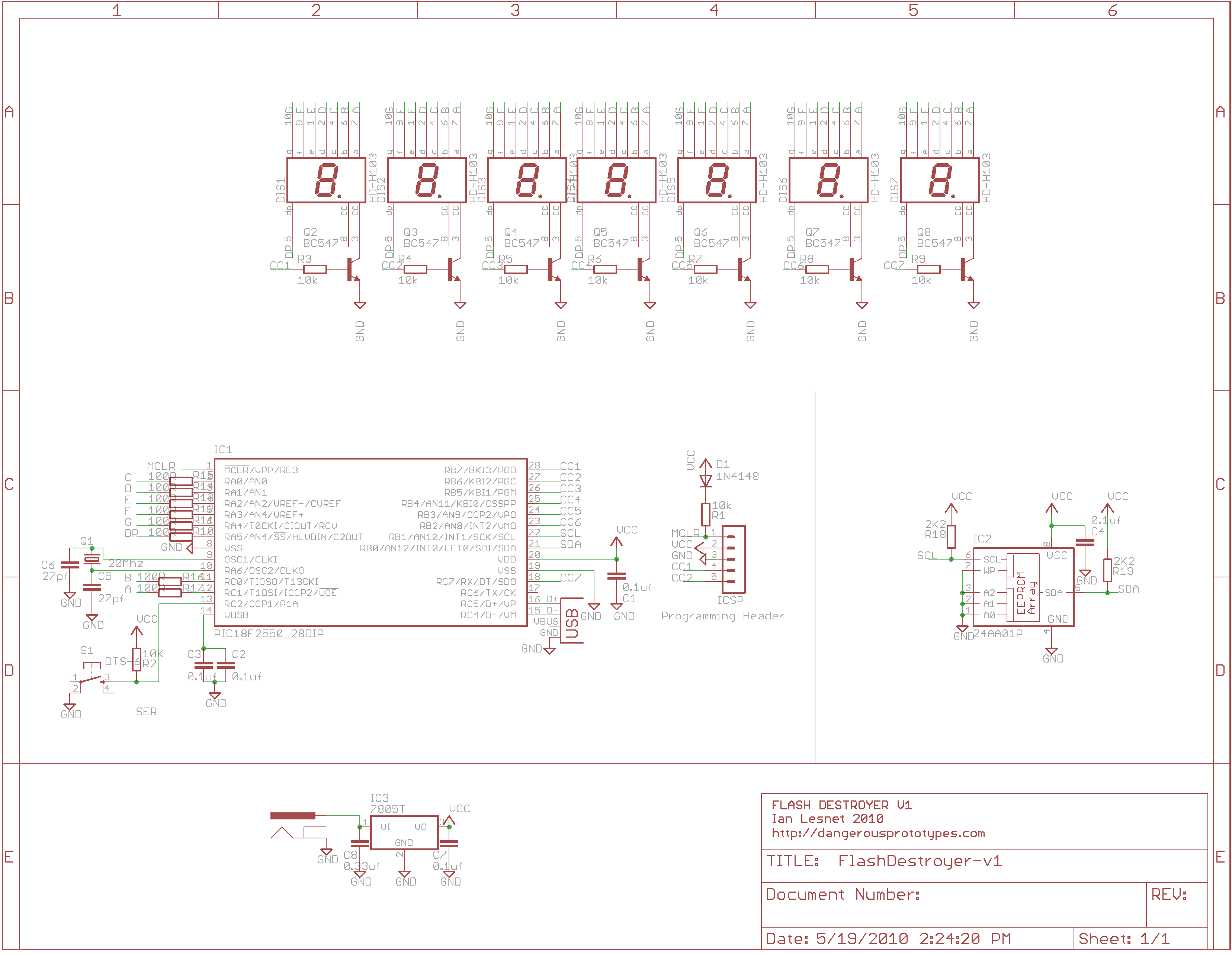 Prototype Flash Destroyer Dangerous Prototypes Free Download Wiring Diagram Click For A Large Image Of The Schematic We Used Freeware