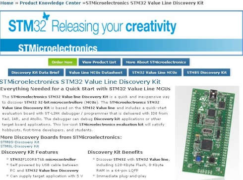 STM32 Discovery: Getting started guide – Dangerous Prototypes
