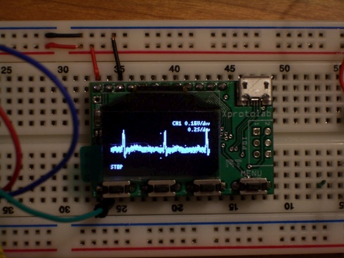 Do it yourself heart monitor dangerous prototypes victzh posted picture of his diy ecg using an xprotolab mini scopelogic analyzer in the project log forum solutioingenieria Choice Image