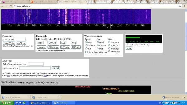 SDR Sunday – monitor web SDRs and decode digital data