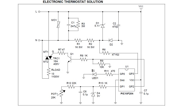 Note Low Cost Electric Range Control Using A Triac