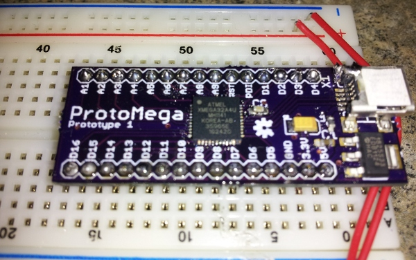 Breakout board for the pin qfn atxmega microcontroller