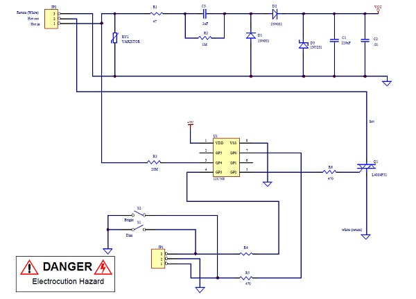 app note lamp dimmer using pic12c508 dangerous prototypeshere is a reference design from microchip describing how to built a light dimmer with a pic12c508 and a few discrete components the circuit uses a simple