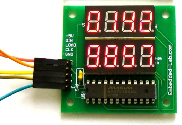 7 Segment Display Clock with MAX7219 and DS1307