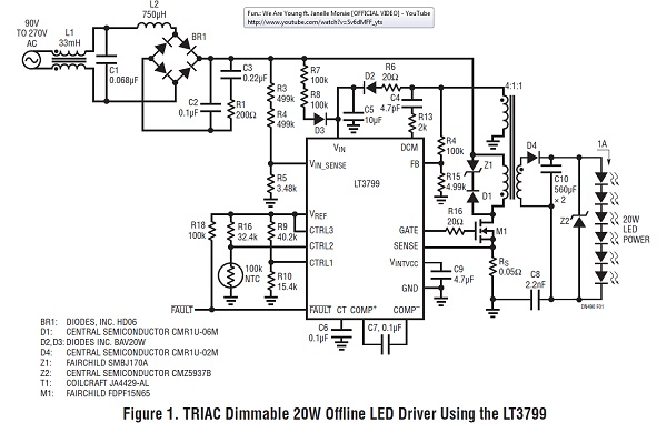 app note  high power triac dimmable led driver  u00ab dangerous prototypes