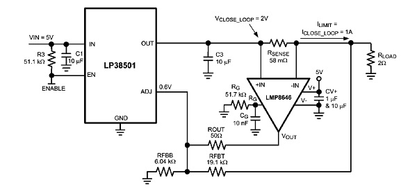 app note  precision current limiting with the lmp8646