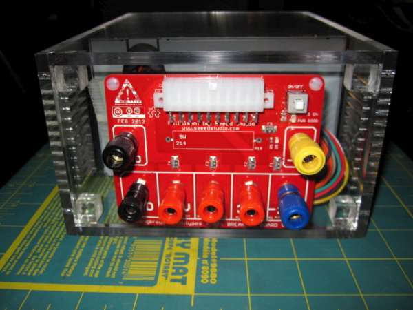 Laser Cut Acrylic Power Supply Case Uses Atx Breakout