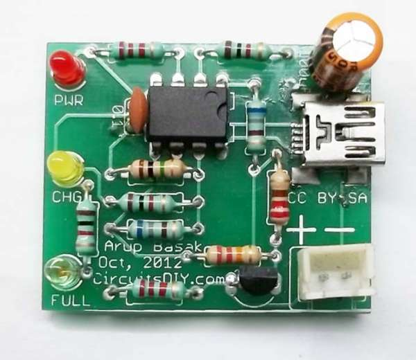 Simple Usb Diy Li Ion Battery Charger Circuit Update
