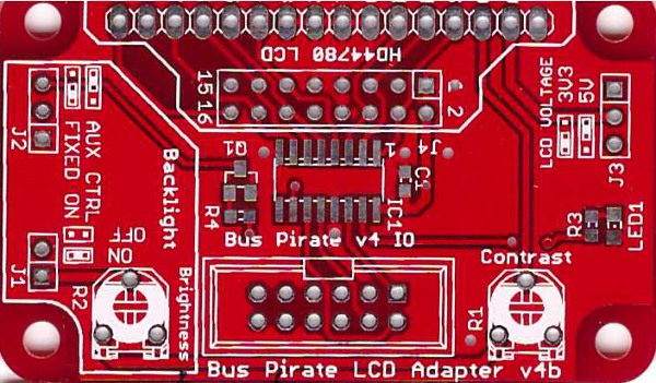 Bus Pirate LCD Adapter v4b