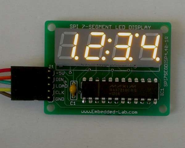New Version Of MAX7219 Based 4-digit Serial Seven Segment