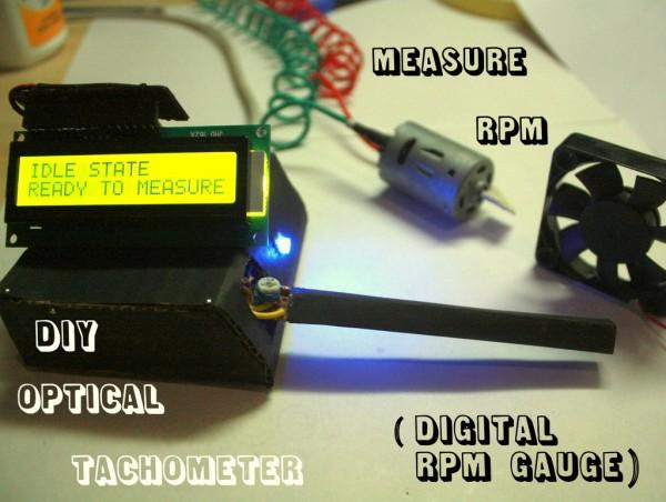 Measure RPM – DIY portable digital tachometer « Dangerous Prototypes
