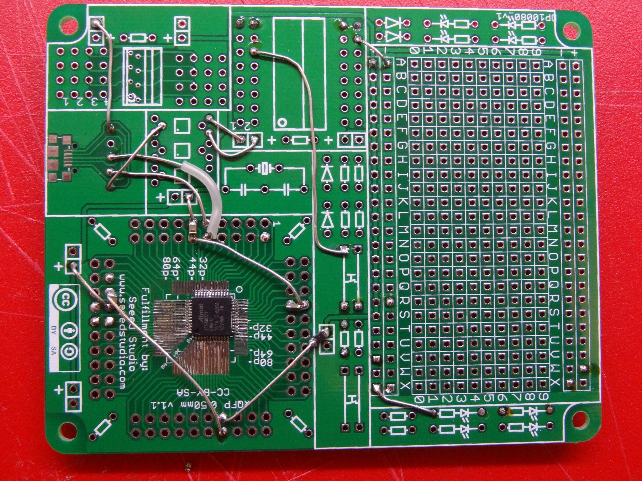 Arduino zero using a xqfp protoboard electronics