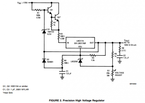 app note  high voltage adjustable power supplies