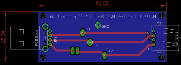 USB 2.0 Breakout PCB layout (1)