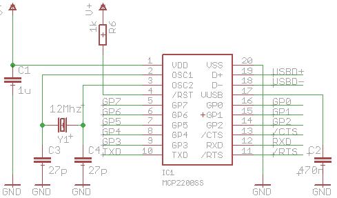 Mcp2200 Breakout Board