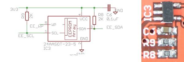 Onboard 24AA I2C EEPROM - DP