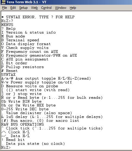 Bus Pirate 101 tutorial - DP