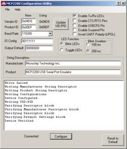 mcp2200 usb serial port emulator windows 7