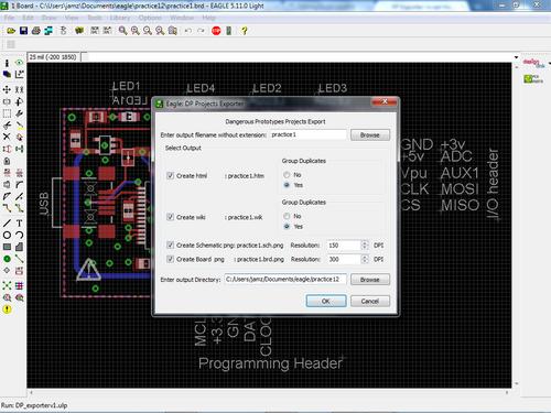 Eagle Exporter Script - DP